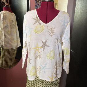 Ocean Theme Fresh Produce Long Sleeve Shirt Med